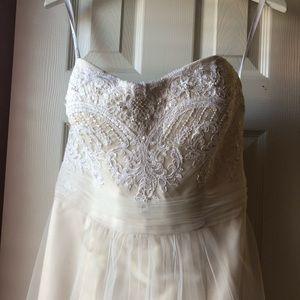 Champagne and Cream Wedding Dress
